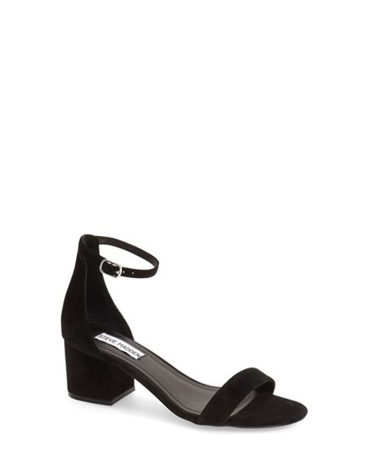 Steve Madden Irenee Ankle Strap Sandal In Black Olive