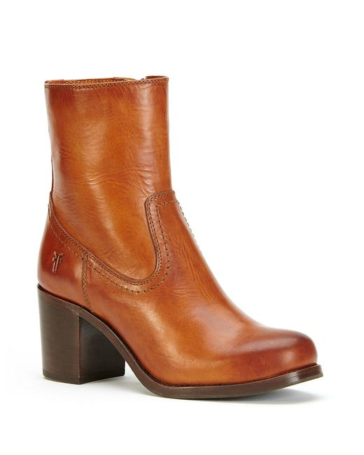 Frye | Brown Kendall Leather Ankle Boots | Lyst