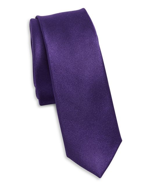 Original Penguin | Purple Solid Silk Tie for Men | Lyst
