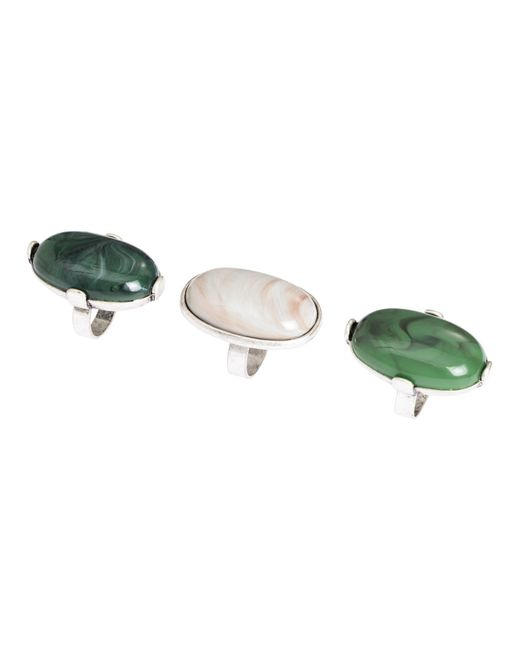 H&M | Green 3-pack Rings | Lyst