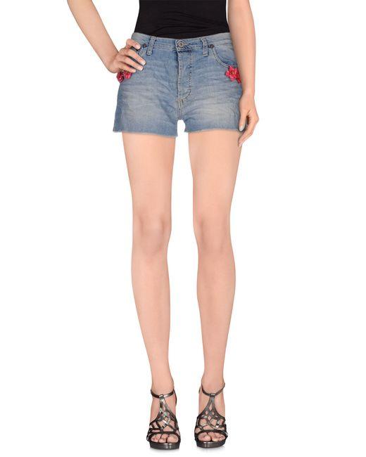 Please | Blue Denim Shorts | Lyst
