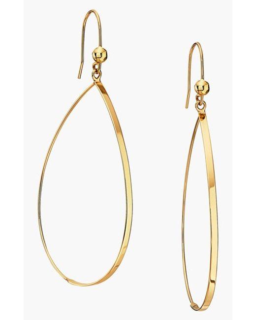 Lana Jewelry | Yellow 'flat Oval' Small Drop Earrings | Lyst