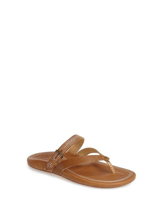 Olukai | Brown 'mana Lua' Thong Sandal | Lyst