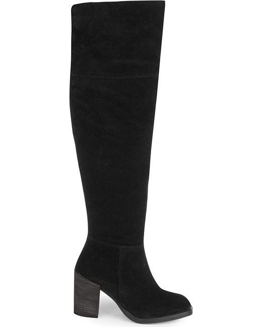 carvela kurt geiger black wish suede knee high boots lyst