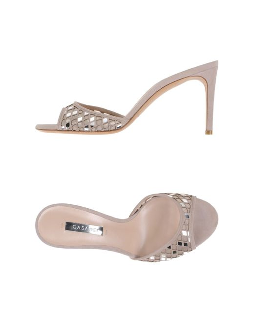 Casadei   Natural Sandals   Lyst