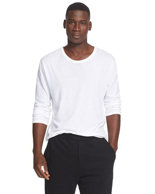 T By Alexander Wang | White Long Sleeve T-shirt for Men | Lyst