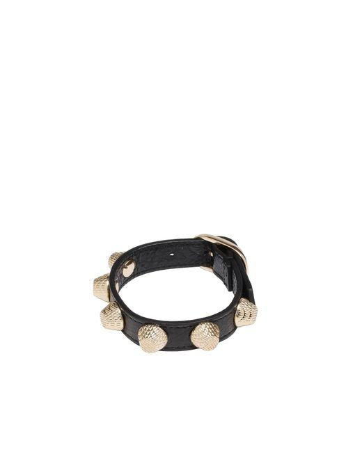 Balenciaga   Black Giant Gold Bracelet Stud   Lyst