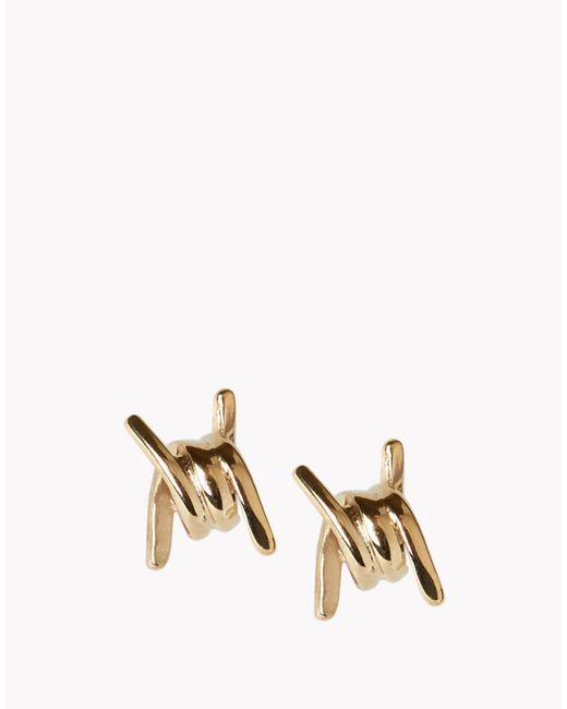 DSquared² | Metallic Mini Babe Wire Earrings | Lyst