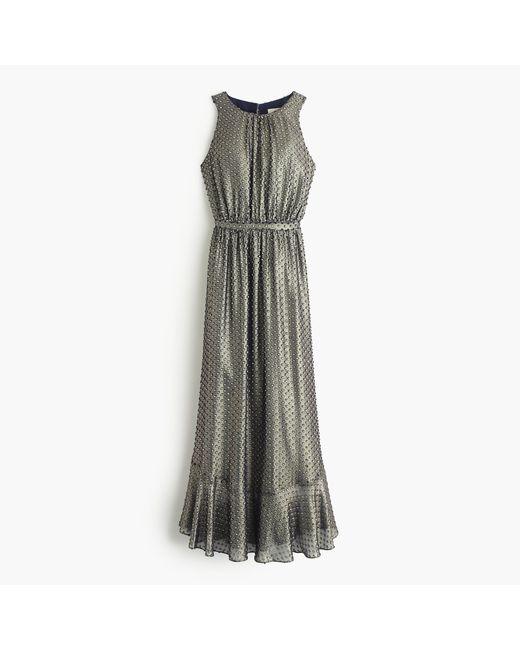 J.Crew | Blue Collection Metallic Clip-dot Dress | Lyst
