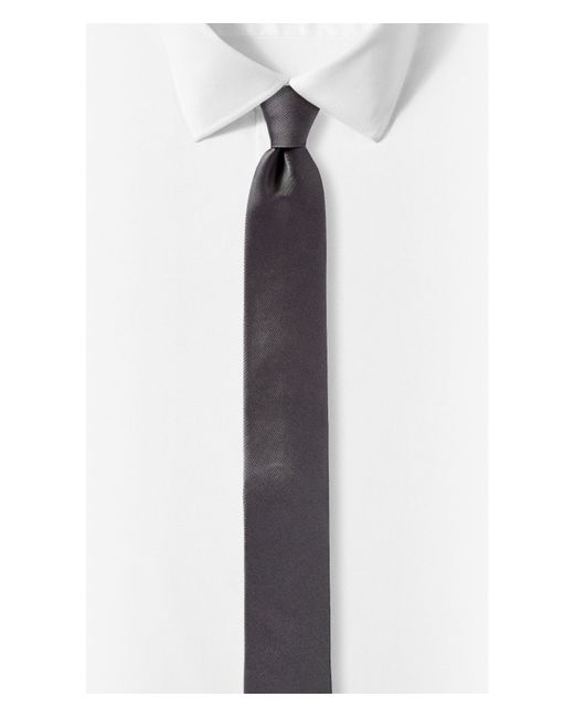 Express   Gray Skinny Silk Tie for Men   Lyst