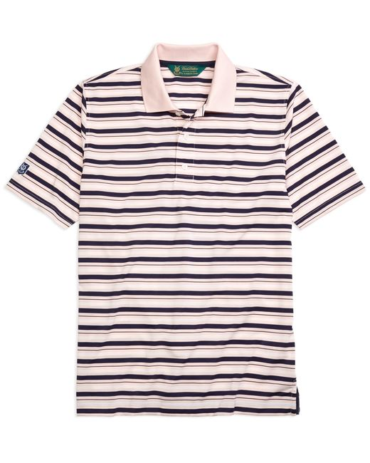 Brooks Brothers | Pink St. Andrews Links Pique Stripe Golf Polo Shirt for Men | Lyst