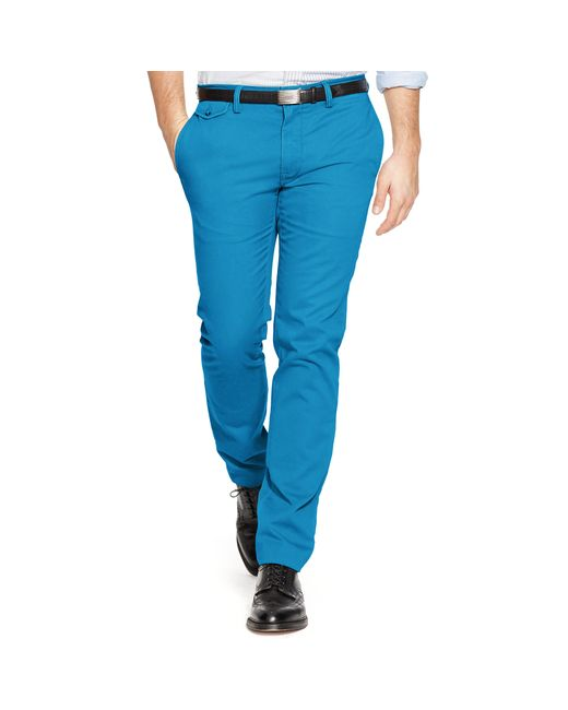 Polo Ralph Lauren | Blue Straight-fit Cotton Chino for Men | Lyst