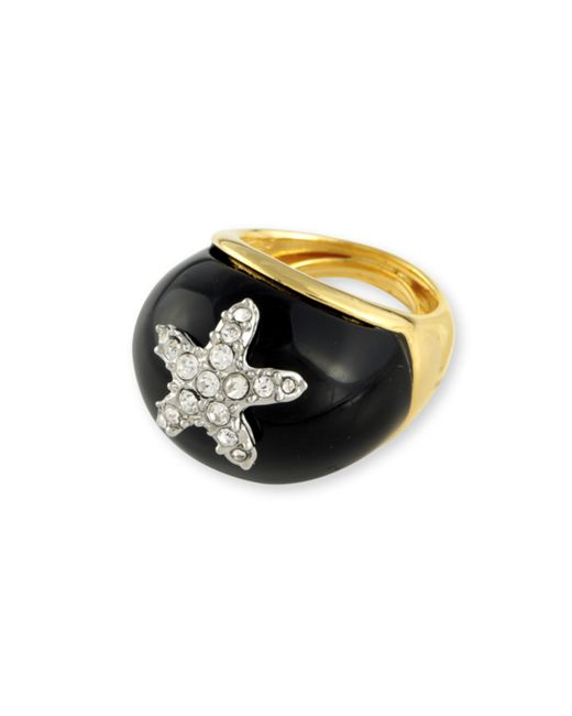 Kenneth Jay Lane | Metallic Black Starfish Ring | Lyst