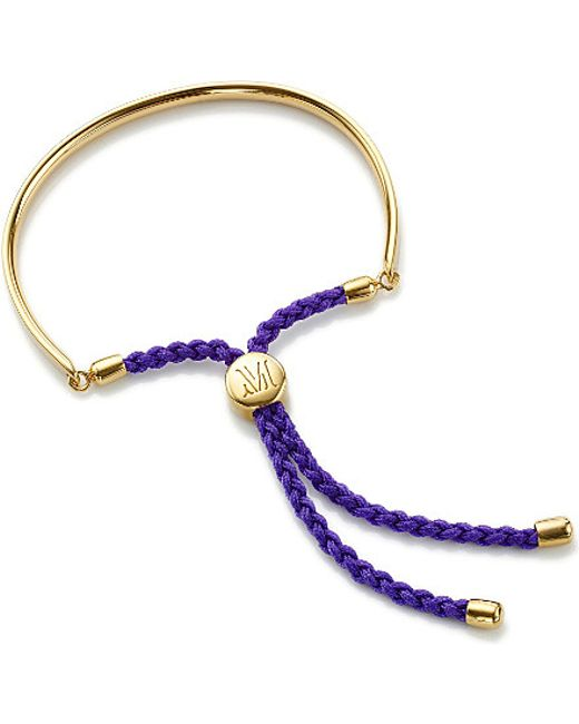 Monica Vinader   Blue Fiji 18ct Gold-plated Friendship Bracelet   Lyst