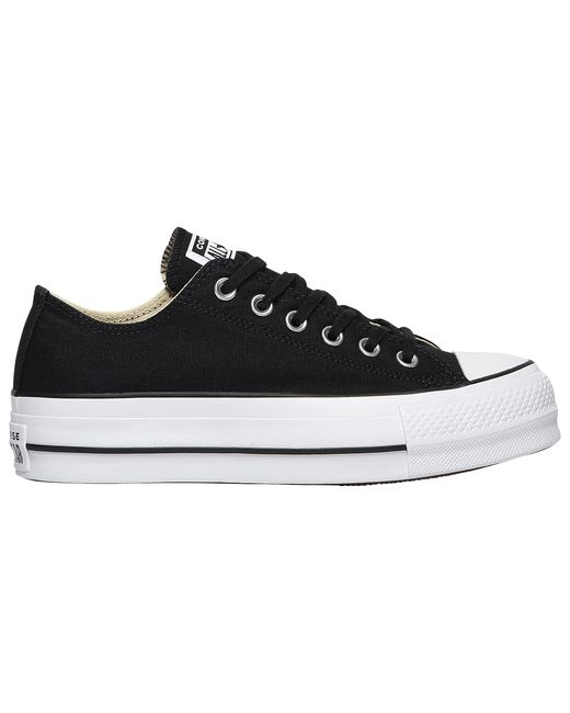 Converse Leather Ctas Lift Ox Sneakers in Black/White (Black ...