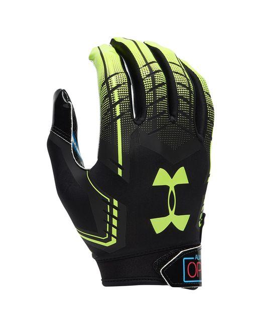 Under Armour Black F6 Receiver Gloves for men