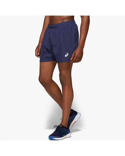 "Asics Blue ""5"" Silver Shorts"" for men"