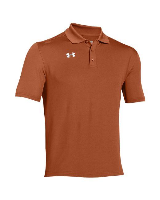 Under Armour Orange Team Armour Polo Shirt for men