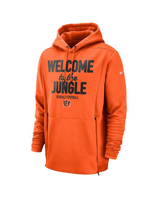 0f80b7cd Men's Orange Nfl Sideline Local Player Fleece Hoodie