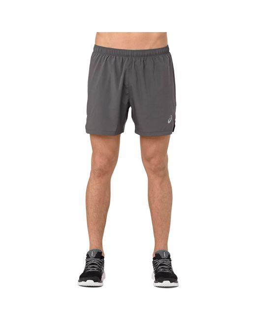 "Asics Gray ""5"" Silver Shorts"" for men"