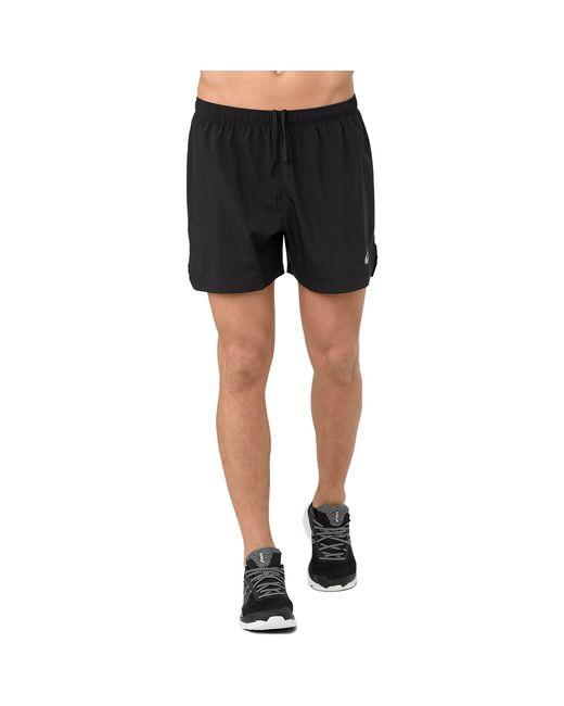 "Asics Black ""5"" Silver Shorts"" for men"