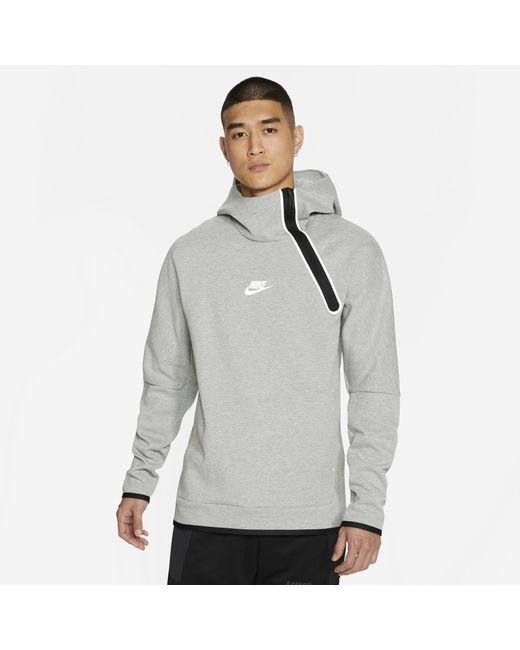 Nike Gray Tech Fleece Reflective Hoodie for men