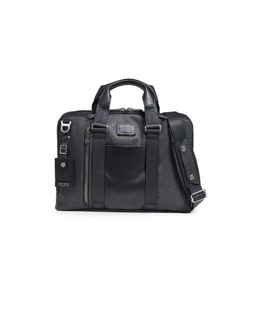 Tumi Black Alpha Bravo Aviano Slim Briefcase for men