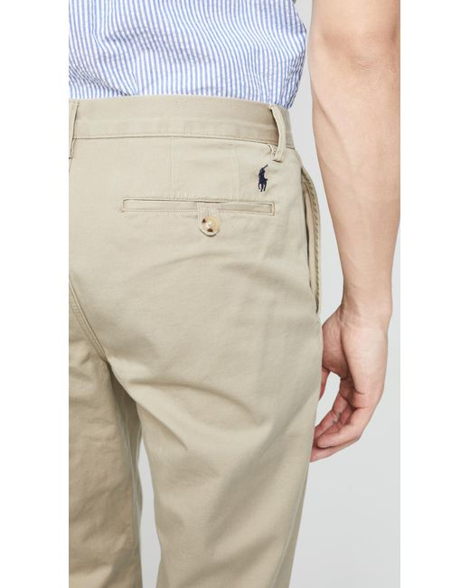 88e60f8fe97 ... Polo Ralph Lauren - Natural Classic Fit Chino Pants for Men - Lyst ...