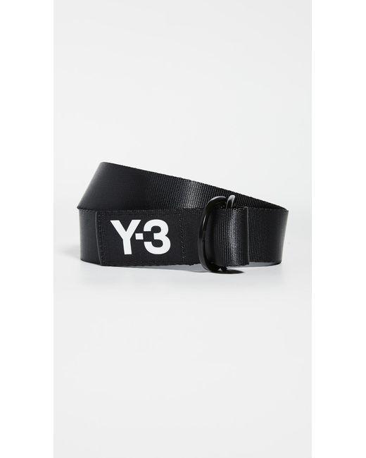 Y-3 Black Logo Belt for men