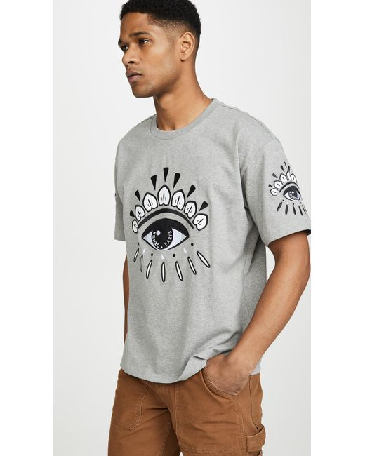 f7ab7422 KENZO - Gray Eye T-shirt for Men - Lyst ...