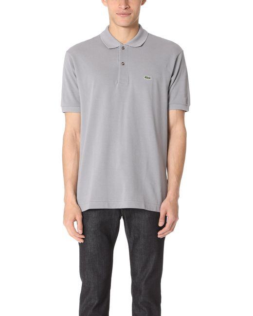 Lacoste | Gray Short Sleeve Classic Polo Shirt for Men | Lyst