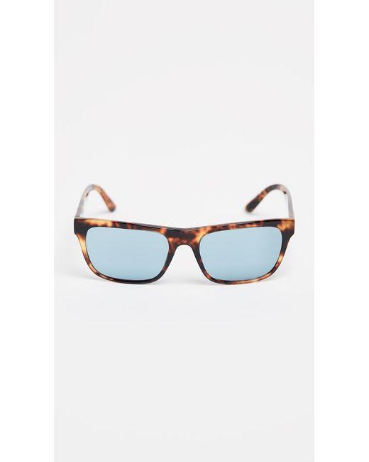 47d6292244d3 Burberry - Blue Square Sunglasses for Men - Lyst ...