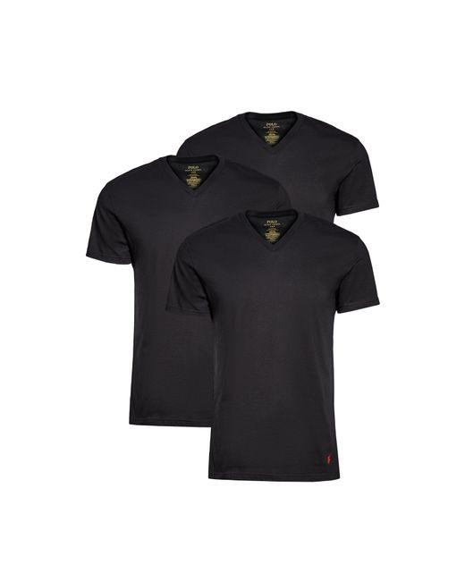 Polo Ralph Lauren Black 3 Pack Slim Fit V Neck Tees for men
