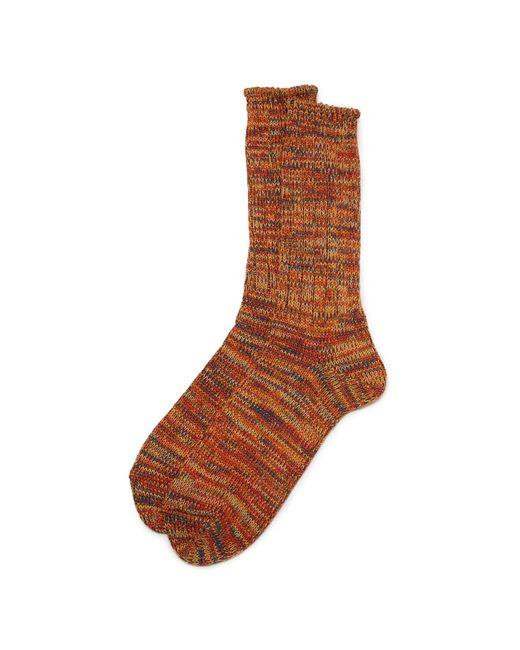 Anonymous Ism   Orange 5 Color Mix Crew Socks for Men   Lyst