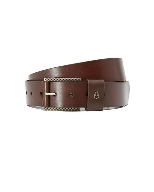 nixon americana leather belt in brown for lyst