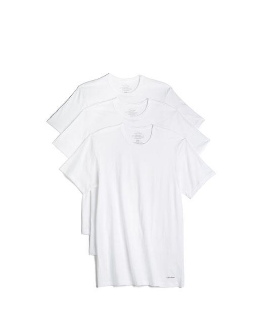 Calvin Klein | White 3 Pack Cotton Classic Crew Neck Tees for Men | Lyst