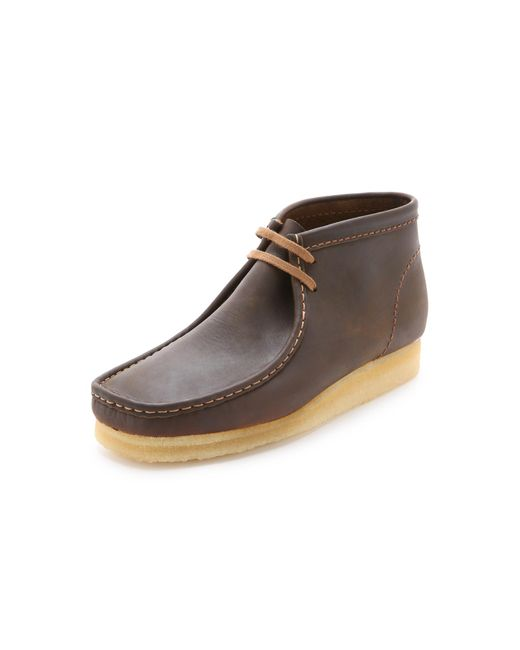 Clarks | Brown Wallabee Leather Chukka Boots for Men | Lyst