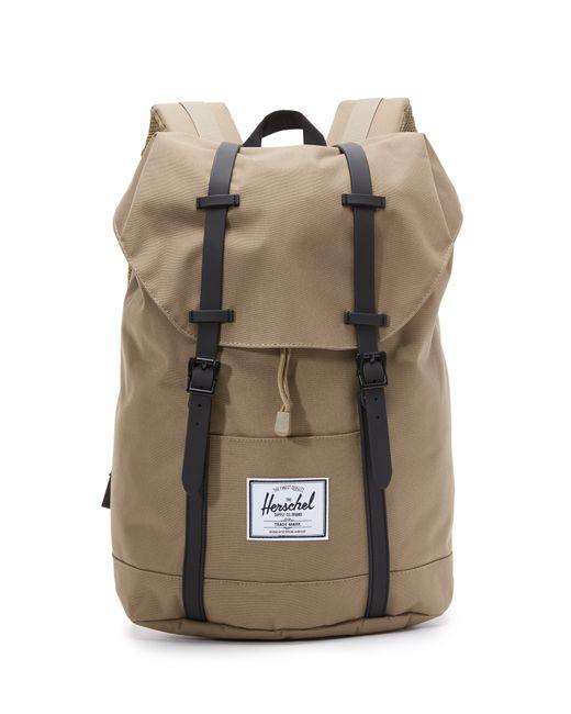 herschel supply co retreat backpack in beige for men lead black lyst. Black Bedroom Furniture Sets. Home Design Ideas