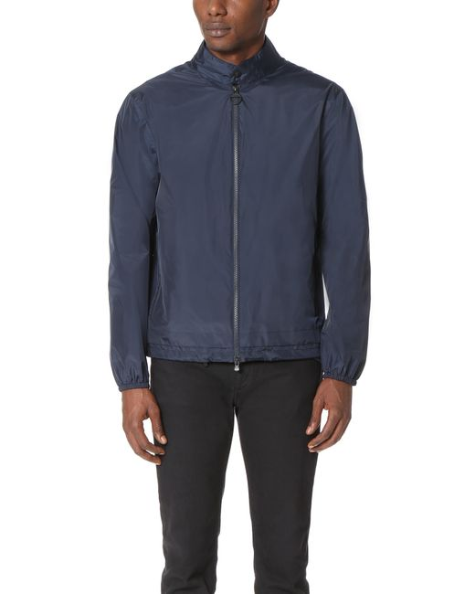 z zegna light shell travel jacket in blue for men lyst