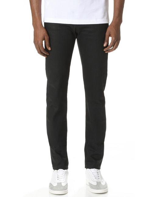 Naked & Famous | Super Skinny Guy Solid Black Selvedge Jeans for Men | Lyst