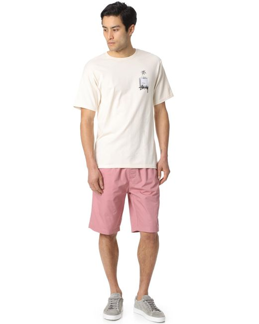 Stussy Light Twill Beach Shorts in Pink for Men | Lyst