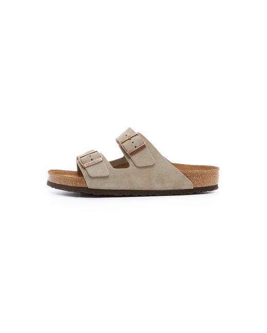 birkenstock soft arizona suede sandals in brown for men. Black Bedroom Furniture Sets. Home Design Ideas