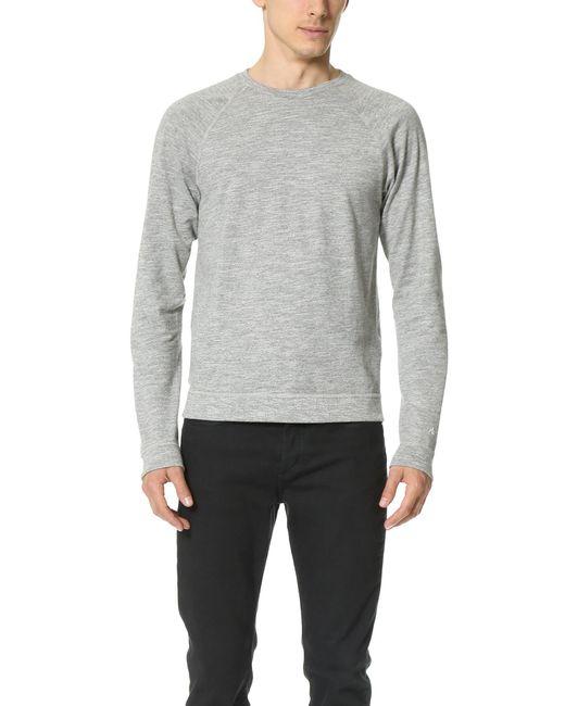 Rag & Bone - Gray Long Sleeve Raglan T-shirt for Men - Lyst