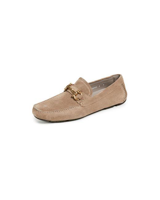 Ferragamo - Natural Parigi Bit Suede Driver Shoes for Men - Lyst