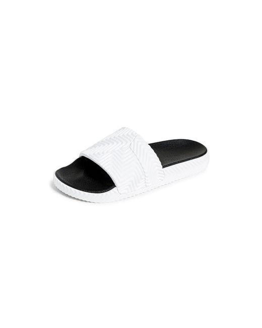 4d9b5cf68b09 Lyst - Alexander Wang Adilette Rubber Slide Sandals in White for Men ...