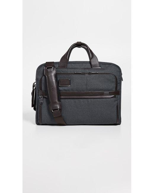 fed5a0f3b074 Tumi - Black Alpha Slim Three Way Briefcase for Men - Lyst ...