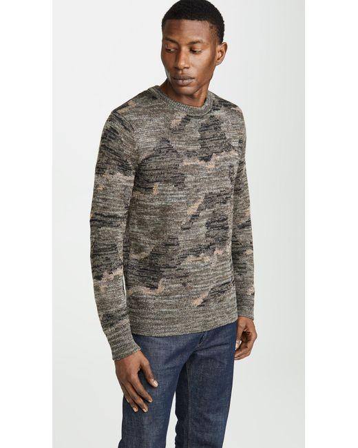 d42f9eaa9b66b3 J.Crew - Multicolor Wallace   Barnes Camo Print Sweater for Men - Lyst ...