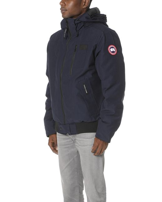 Canada Goose Blue Borden Bomber Jacket for Men Lyst .