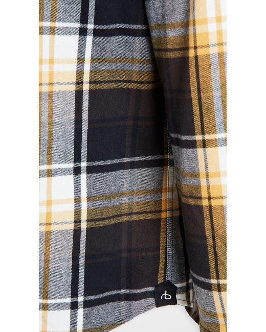 Rag & Bone Black Fit 2 Tomlin Shirt for men