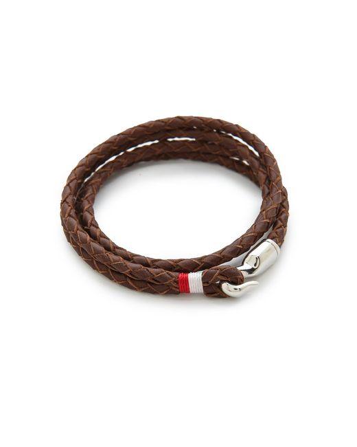 Miansai | Brown Trice Woven Leather Wrap Bracelet for Men | Lyst